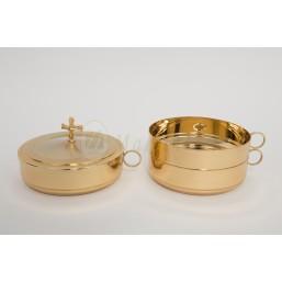 Set Patena apilable con baño de oro
