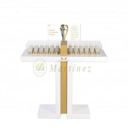 Lampadario Àngel de la Guarda 36 luces lacado con pata blindada