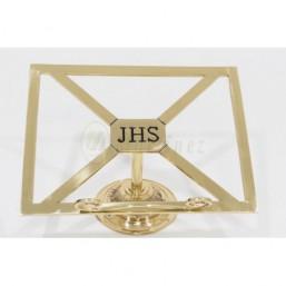 Atril de mesa bronce dorado