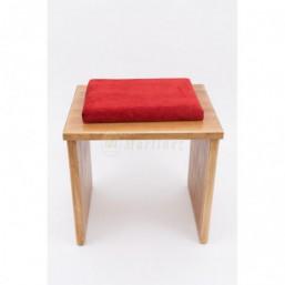 Banqueta madera de pino, tapizado simil-terciopelo