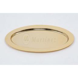 Bandeja de comunión con baño de oro