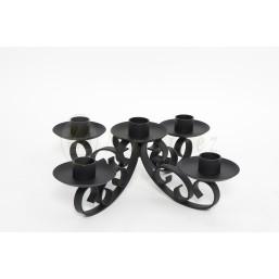 Candelero hierro forjado  para adviento de mesa  sin velas