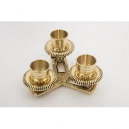 Candelabro bronce dorado