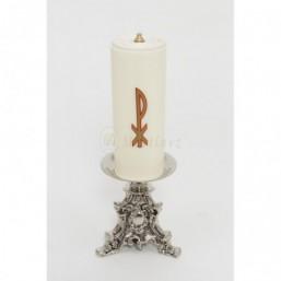 Candelero con vela de cera líquida