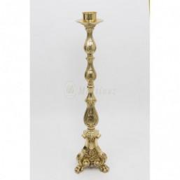 Candelero bronce dorado