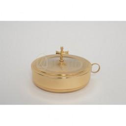 Patena con tapa. Baño de oro