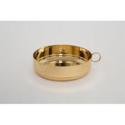 Patena sin tapa. Baño de oro