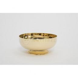 Copón-patena con base . Metal dorado