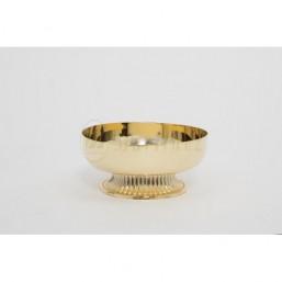 Copón-patena con base. Metal dorado