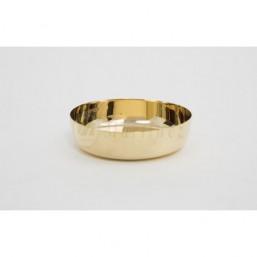 Copón-patena sin base . Metal dorado