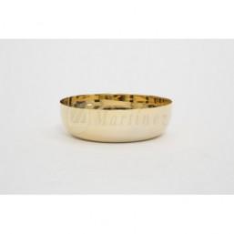 Copón-patena sin base. Metal dorado