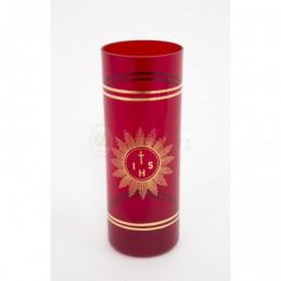 Vaso cristal de bohemia rojo