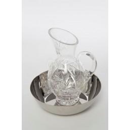 Juego lavamanos, jarra cristal tallado