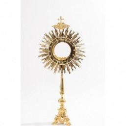 Ostensorio barroco, baño de oro