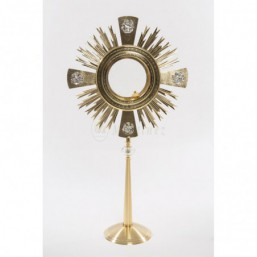 Ostensorio 4 evangelistas, baño de oro