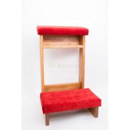 Reclinatorio madera de pino, tapizado simil-terciopelo