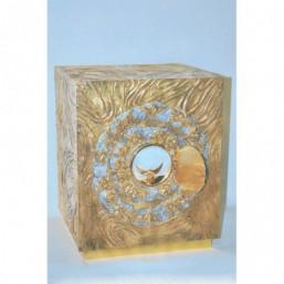 Sagrario bronce dorado, puerta con exposición