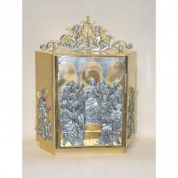 Sagrario bronce y metal bicolor