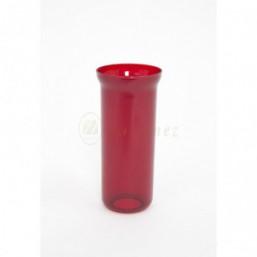Vaso rojo con orificio para instalación eléctrica